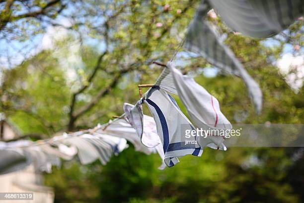 Towels Drying on Clothes Line