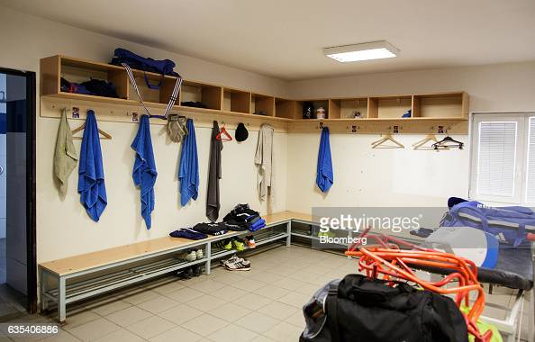 Towels hang in the locker room at the ground of Slovakian football club FC STK Samorin in Samorin Slovakia on Friday Jan 27 2017 For top Brazilian...