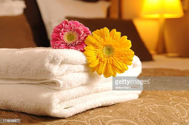 Towels on the bed