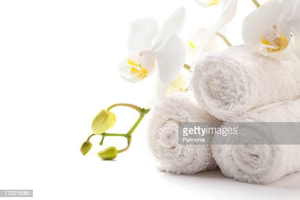 Handtücher mit Orchidee