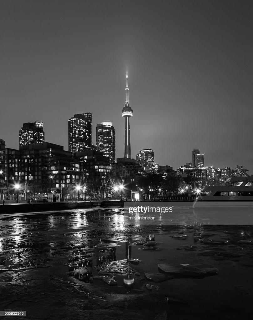 CN Tower and Buildings in the Winter : Stock Photo