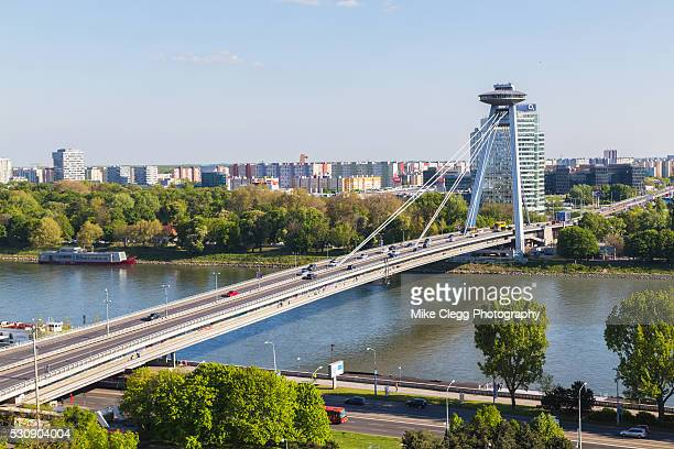 UFO Tower and Novy Most Bridge during the day