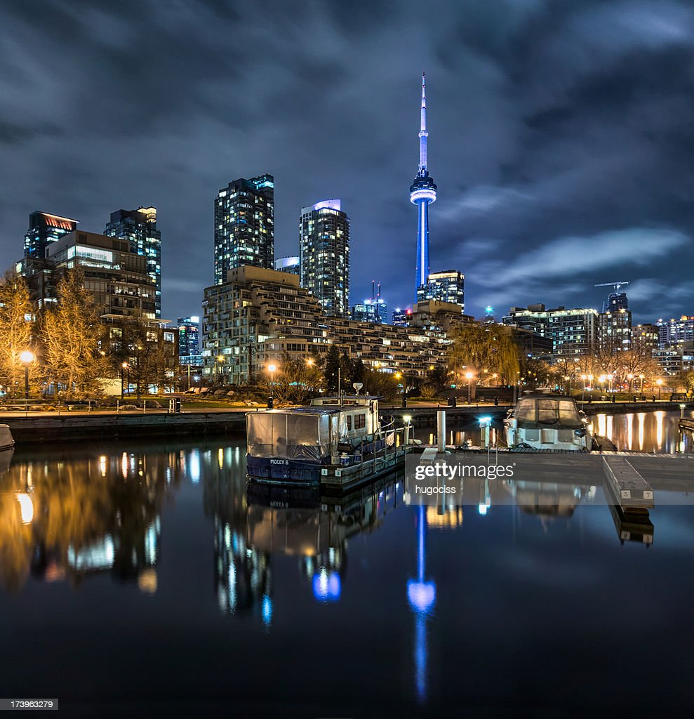 CN Tower and Toronto Skyline from Harbourfront