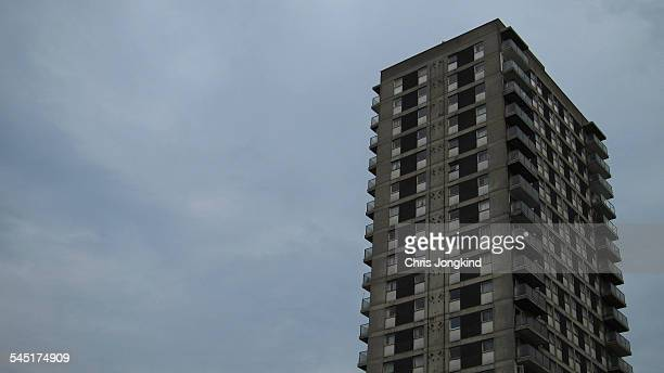 Tower Block on Overcast Day