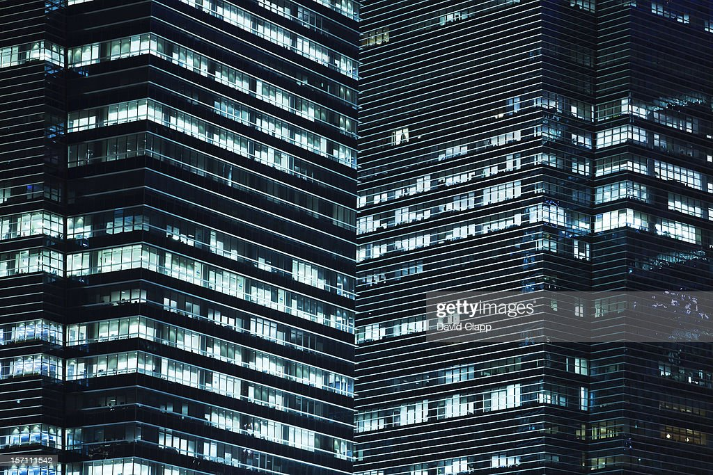 Tower Blocks in Business District of Singapore : Stock Photo