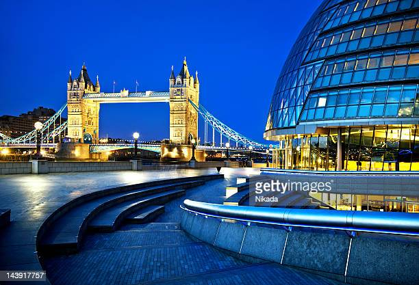 Tower bridge and city hall in London