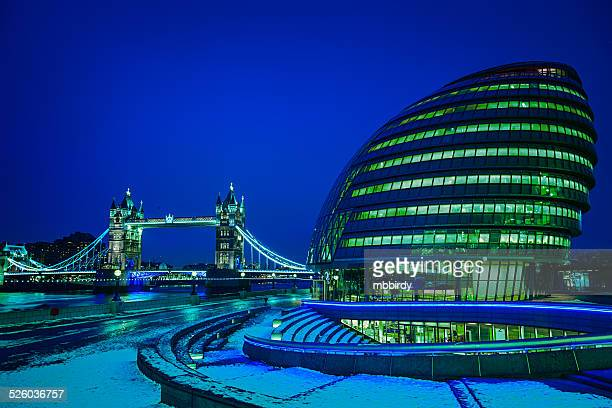 Tower Bridge and City Hall, Southwark, London, UK