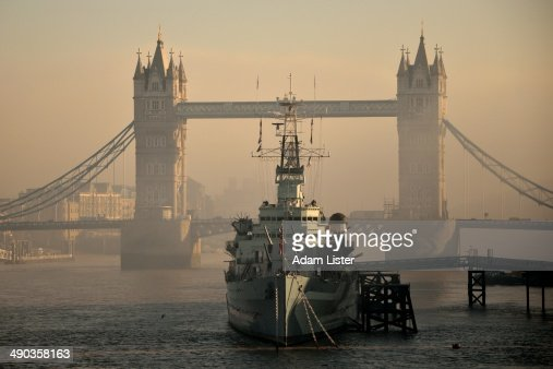 Tower Bridge and HMS Belfast