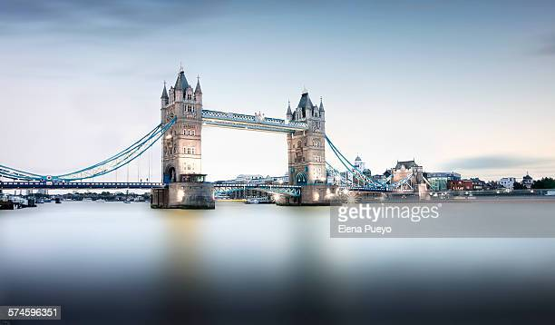 Tower Bridge and Thames river at sunset, London