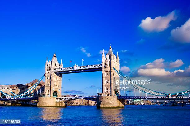 Tower Bridge and the City Skyline London UK