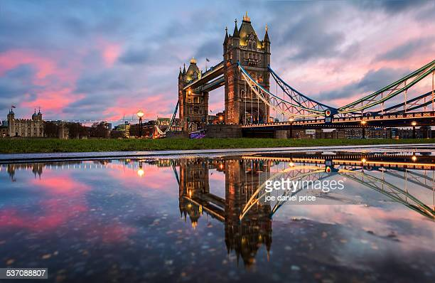 Tower Bridge and Tower of London, England