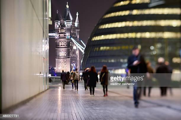 Tower Bridge and ultra modern London