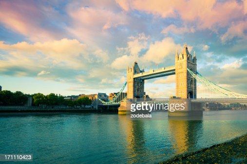Tower Bridge at Sunset, London Landmark