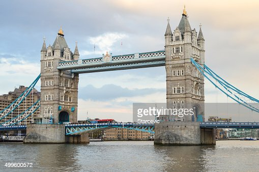 Tower Bridge during sunset - London, UK
