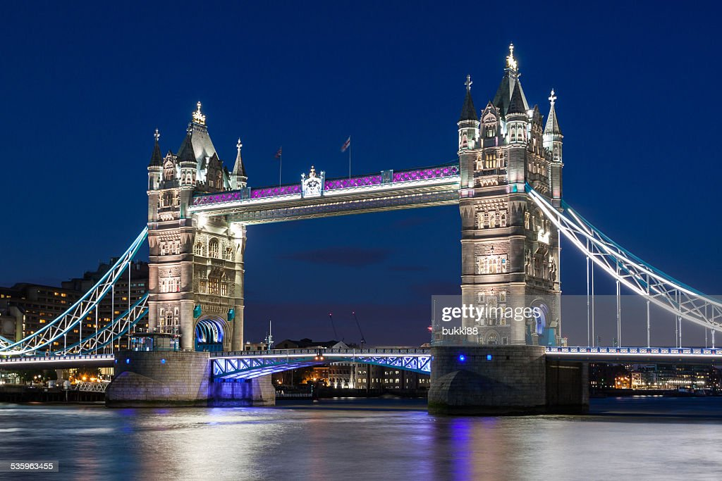 Tower Bridge from the Tower of London, UK : Stock Photo