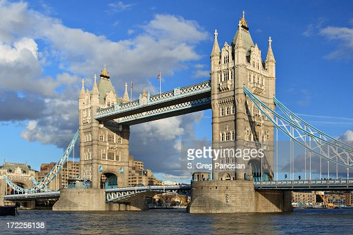 Tower bridge in London during the day