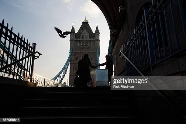 Tower Bridge in London England on January 20 2014