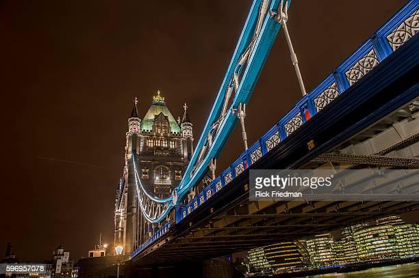 Tower Bridge in London England on January 22 2014