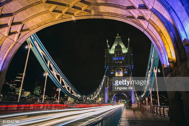 Tower Bridge Light Trails at Night, London