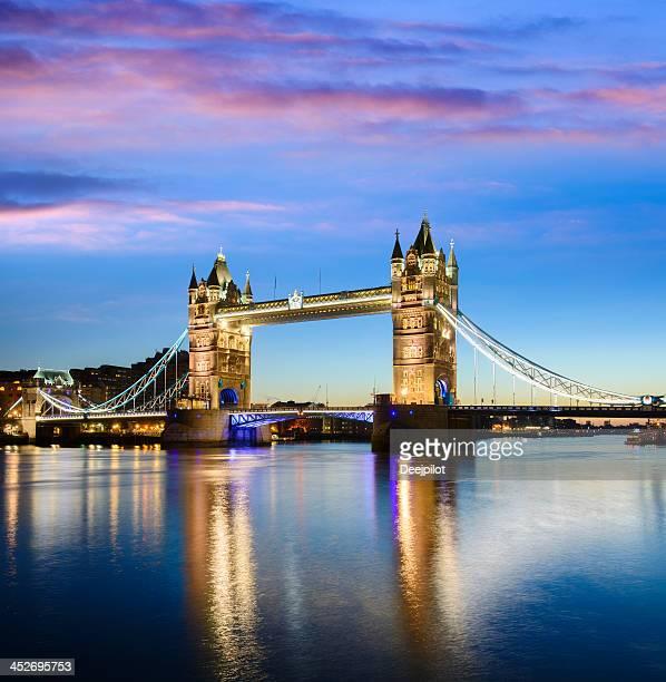 Tower Bridge located in London