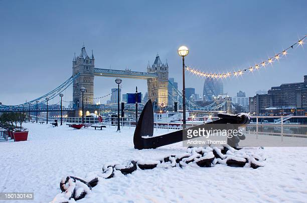 Tower Bridge London snowfall