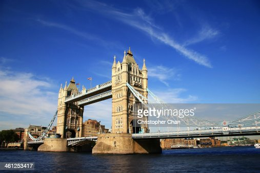 Tower Bridge of London on a clear day
