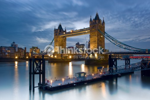 Tower Bridge on the River Thames - London, England : Stock Photo