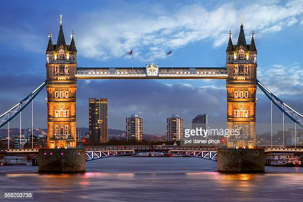 Tower Bridge, Straight On, London, England