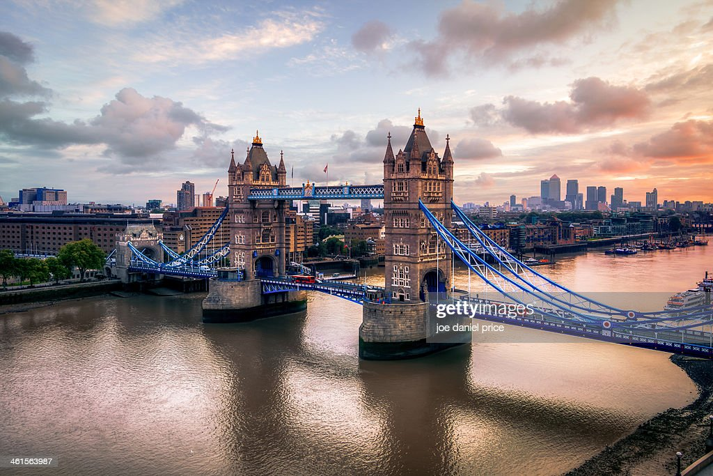 Tower Bridge Taken from City Hall, London, England : Stock Photo
