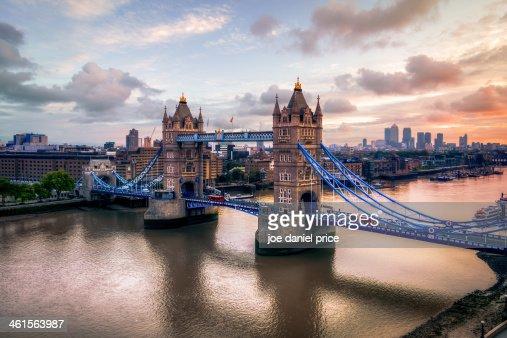 Tower Bridge Taken from City Hall, London, England