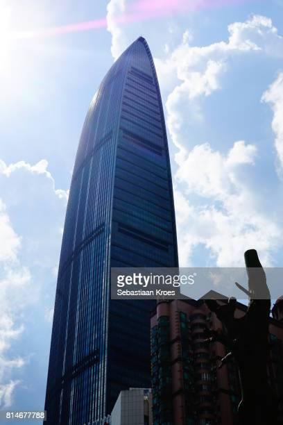 KK100 Tower in the Sunshine, Shenzhen, China