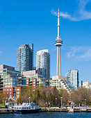 CN tower in Toronto skyline seen from Lake Ontario The city offers boat tours which are very popular with tourists and visitors to the Financial...
