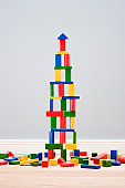 Tower made of building blocks