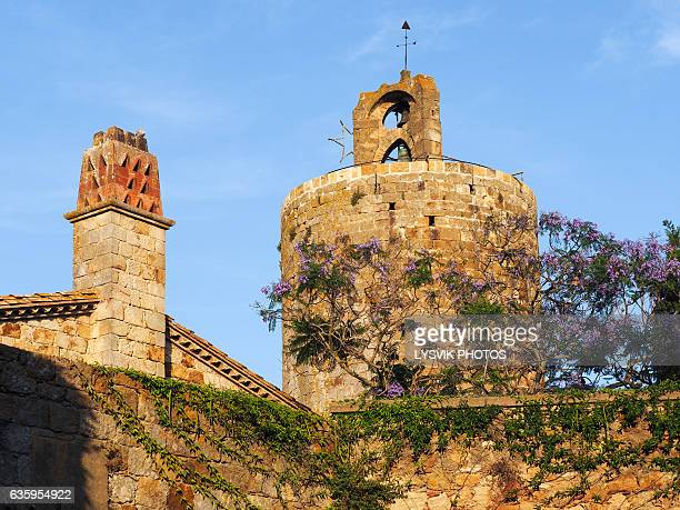 Tower named Tower of the Horses in medieval town Pals