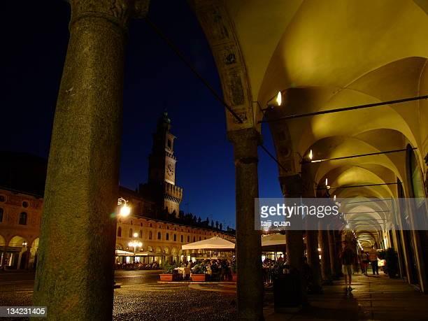 Tower of Bramante and arcade Vigevano