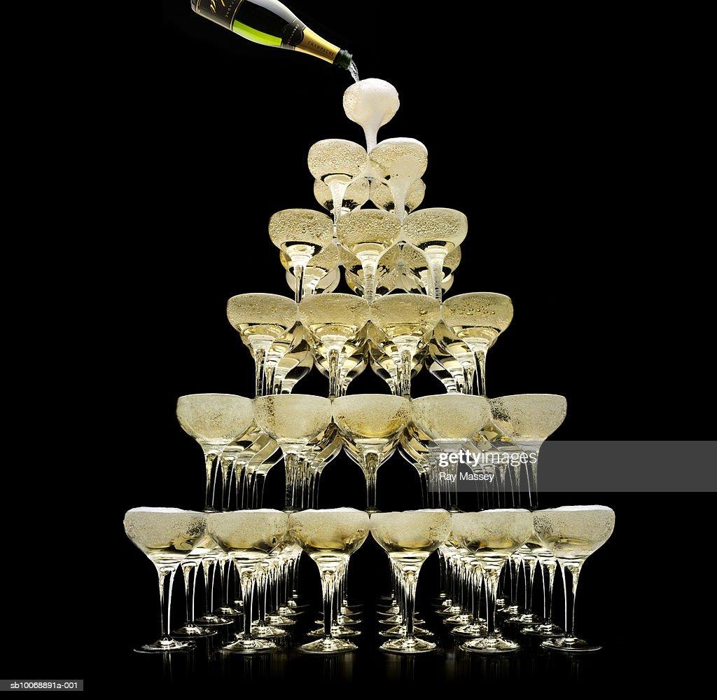 Champagne Pyramid Glasses