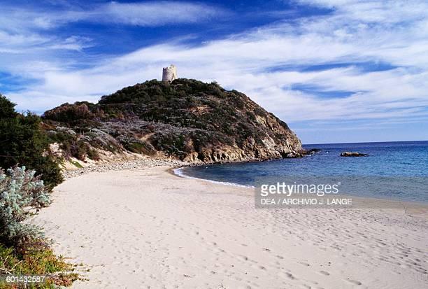 Tower of Chia near Domus de Maria Sardinia Italy