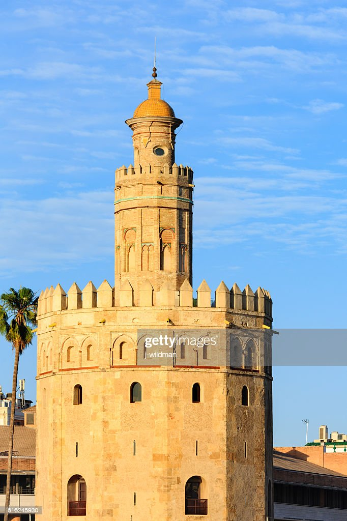 Tower of Gold, Seville, Spain. : Foto de stock