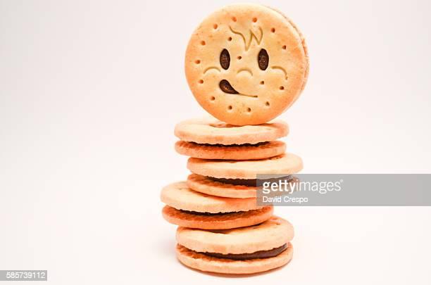 Tower of happy cookies