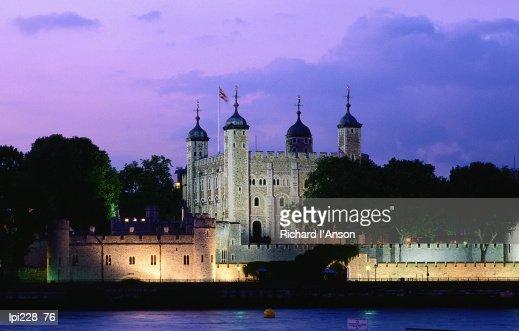 Tower of London at dusk, London, United Kingdom, England, Europe