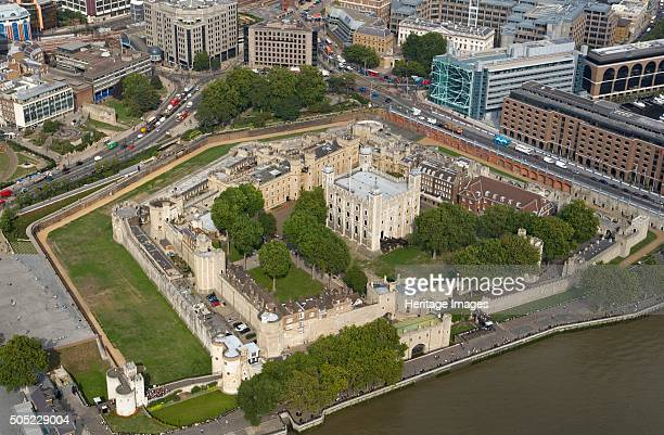 Tower of London London 2006 Aerial view Artist Historic England Staff Photographer