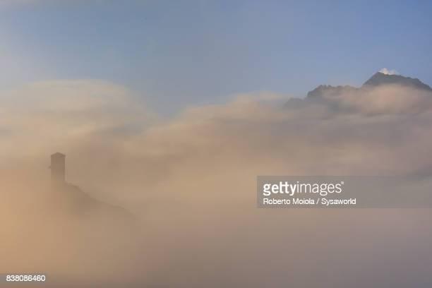 Tower of Steinsberg Castle, Ardez, Switzerland