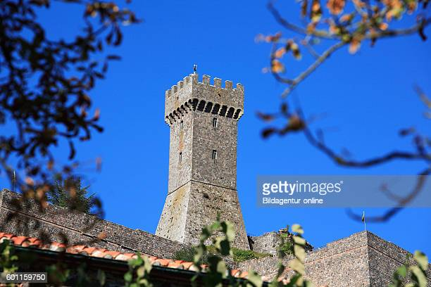 Tower of the castle Rocca Forte of Radicofani Tuscany Italy