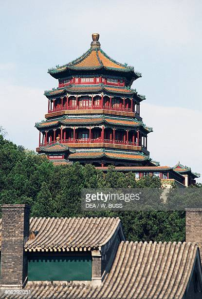 Tower of the Fragrance of the Buddha Summer Palace Longevity Hill Beijing China 18th century