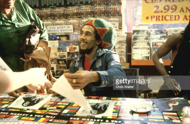 BOB MARLEY 1979 Tower Records Hollywood during Bob Marley File Photos in Hollywood Tower Records california