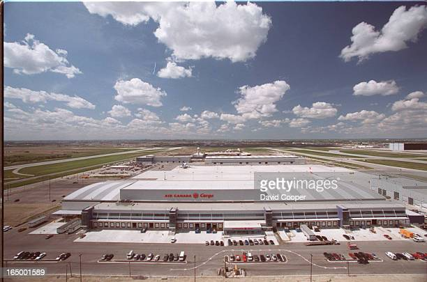 The new Air Canada Cargo building built north of the Pearson Control Tower in the centre of the airport