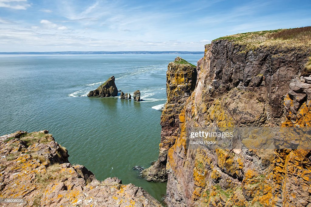 Towering Cliffs at Cape Split