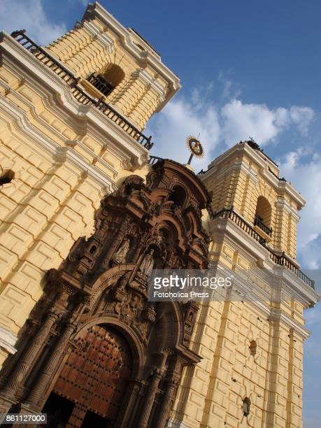 Towers and facade of the church museum and monastery of San Francisco