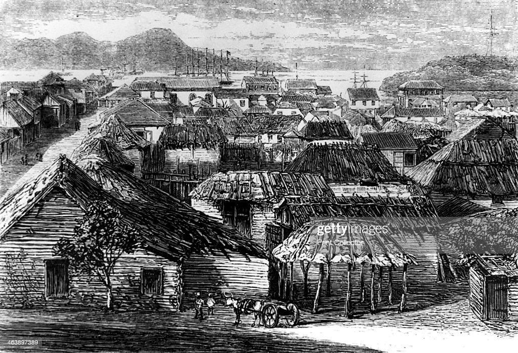 Town and bay of Puerto Plata Santo Domingo 1873 Puerto Plata is a town on the northern coast of the island of Hispaniola in what is today the...
