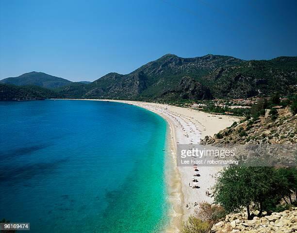 Town beach, Oludeniz, Anatolia, Turkey, Eurasia